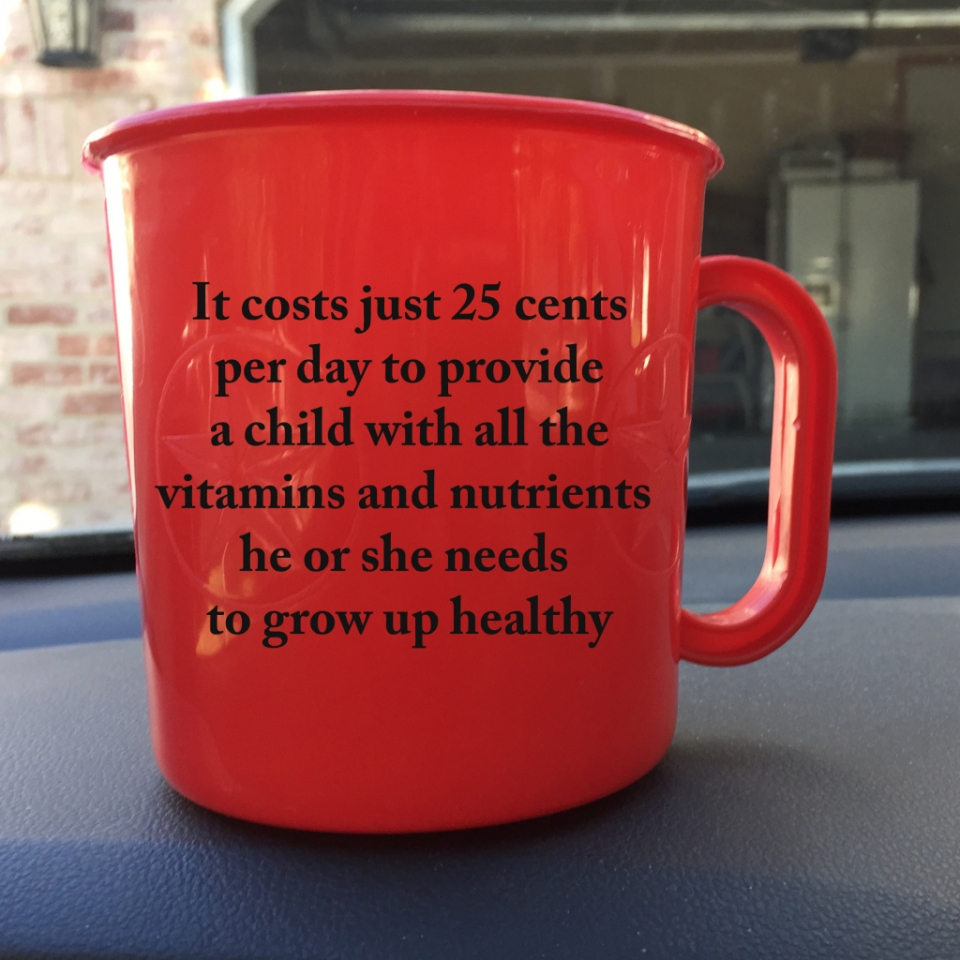 Red Cup 25 cents