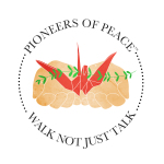 PIONEERS OF PEACE LOGO BUSINESS CARD 3inch size